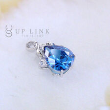 Beautiful Raindrop Pear Blue Cubic Zirconia Fashion Jewelry Pendants  Necklace