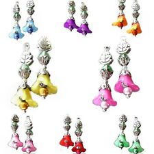 Earrings Petite Lucite lily Flower, choose color and clip on or pierced
