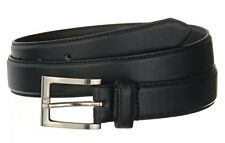 Men's Casual Black Dress Leather Belt w/ Buckle New