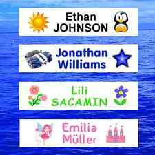 Iron On School Name Labels Tags Tapes Printed  Personalised Clothing Waterproof