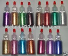 10g Super Fine Cosmetic Glitter for Henna Accents - Silver, Gold, Black and MORE