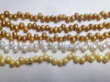 variations oval rice side hole Natural freshwater pearl loose beads necklace