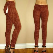 Rich&Skinny Super Skinny Legacy Legging Jeans Rust Brown Giraffe Print 25 27 New