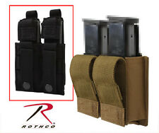 US Military Double Pistol Mag Magazine BLACK COYOTE TAN MOLLE Pouch Case Holder