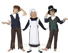 Girls Boys Victorian Peasant Fancy Dress costume Book Week Childrens outfit