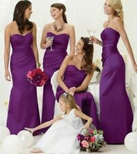 CADBURY PURPLE BRIDESMAID EVENING WEDDING PROM DRESS RED BLACK BLUE SILVER
