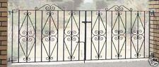 Wrought Iron Metal Driveway Gates 7ft 8ft 9ft 10ft 11ft 12ft (Sterling Design)