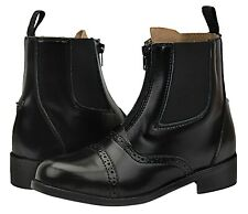 Hispar Challenger Kids Zipped Paddock Leather Ankle Horse Riding Players Boots