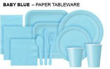 BABY BLUE Tablecovers Napkins Party Bags Streamers Plates Cups Decorations