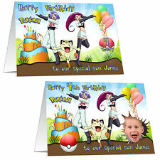 Personalised Pokemon Birthday Card for Kids Children Friend Boys 7th 8th 5th 9th