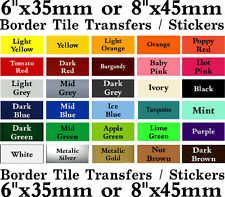 "Tile transfers Borders, 6"" or 8"" Stickers packs of 10, 20, 30, 40"