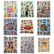 Large Shiny Disney Stickers Childrens Kids Party Foil Character Princess Cars
