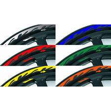 "10""~19"" Flame Style REFLECTIVE Rim Stripe Motorcycle Wheel Decal TAPE Stickers"