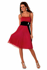 Empire Damen Abend Kleid Spaghetti Träger Ball Party Cocktail Frauen H1254