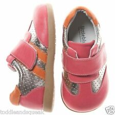 Little Blue Lamb Girls Infant Pink / Red, Silver + Orange Toddler Shoes Trainers