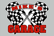 CUSTOM GARAGE SIGN w/ Personalized NAME Vinyl Wall Window Decal Sticker