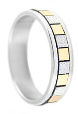 R092P Stainless Steel Ring Gold & Silver Tone True Love You Pick Ring Size