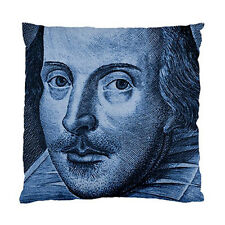 Shakespeare Droeshout Engraving Blue Version Two Sided Cushion Cover