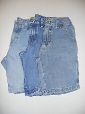 Faded Glory Wrangler Jeans Boys Blue Denim Carpenter Jean Shorts Pre Owned 7R 8R