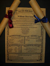 Parchment Scroll 13th 16th 18th 21st 30th 40th 50th 60th 70th 80th Birthday Gift