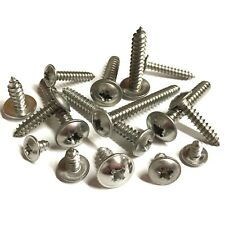 No 6 8 10 12 Pozi Flange Self Tapping Screws - A2 Stainless - Various Lengths