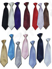 UK BOYS QUALITY ELASTICATED TIES PAGEBOY WEDDING PROM DINNER SUIT TIE