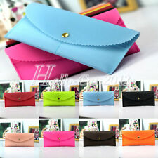 Fashion Womens Ladies Plastic Card Holder Button Clutch Handbag Bag Purse Wallet