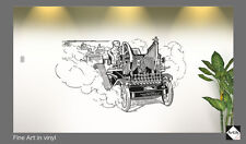 OLIVER TYPEWRITER AD. VINYL FOR WALL. ART DECAL, STICKER, COMIC TYPE