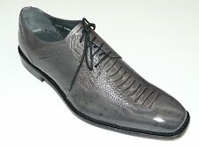Mens Stacy Adam Eel skin and ostrich leg print leather Shoes 24826 Gray PISA
