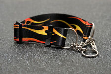 MARTINGALE COLLAR - 38MM & 50MM WIDTHS - PATTERNED WEB!! - w CHAINS (SLIP OVER)