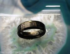 Personalized Black Promise Ring / Name Ring* Finger 5-14* Free Engraving!