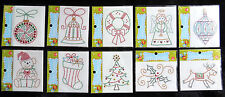 IRON-ON CHRISTMAS STUD APPLIQUES Ornaments Angel Wreath Tree Stocking Reindeer