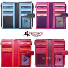 Purse Wallet Soft Leather Visconti Multicolour New in Gift Box
