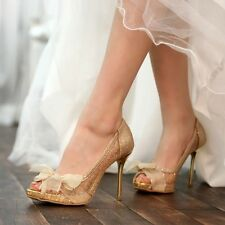 NEW Women's Wedding Heels Shoes Party Pumps Bridal Shoes 0798 Made In Korea Item