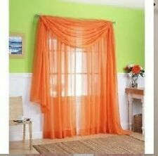 "SHEER / SCARF Window Treatments Curtains Drape Valances 63"" 84"" 95"" ORANGE"