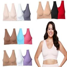 """Rhonda Shear Comfort Support """"Ahh""""Bra 3Pack 1Removable Pads 192800"""