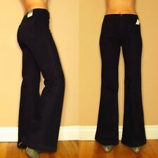 $218 J Brand Bette High-Rise Wide Leg Flare Trousers Jeans Marine Dark Twill 24