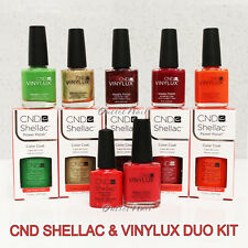 CND SHELLAC & VINYLUX 2 pc DUO KIT ✽ UV Gel Match Weekly Nail Polish Pack Set