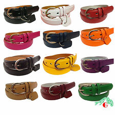 WOMEN/LADIES Skinny Leather Belt 12 color in a pack Size S M L XL 12 for $34.99