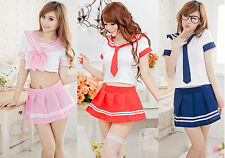 Sexy Lingerie sailor School Girl lolita cosplay costume dress uniform outfit hot