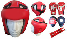 MUKI-1 SET OF 3 MMA TRAINING THAI BOXING GLOVES + FOCUS PAD + HEAD GUARD