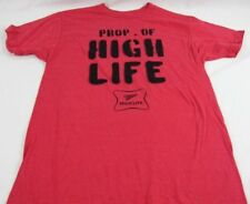 Mens NEW Red Property of Miller High Life Logo Graphic T-Shirt Size S M L XL