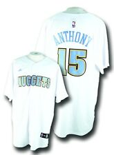 NWT Denver Nuggets #15 Carmelo Anthony Adidas NBA Baseball Style Jersey