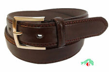 MEN CASUAL /DRESS Slim LEATHER BELT Brown  Sizes 48/ 52/ 56 $5.95 Free Shipping
