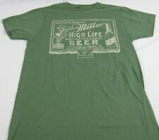 Mens NEW Green Miller High Life Beer Milwaikee Logo Graphic T-Shirt Size S XL
