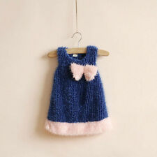 1692 Boutique Baby Soft Furry Dress Vest Full Cotton Lined Super Cute NWT