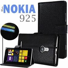 Nokia Lumia 925 Folio Leather Case Flip Cover and Built in Stand