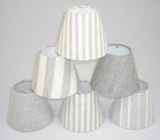 Candle Lampshades Handmade in UK - Linen Fabric