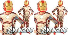 CHILD BOYS IRON MAN 3 DELUXE MUSCLE CHEST COSTUME,3-4YRS,4-5YRS,6-7YRS  BNWT