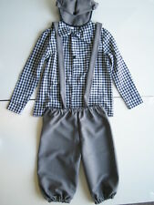 1930'S CHILD NEWSBOY COSTUME VICTORIAN PAPER BOY EXTRA KIDS COSTUMES SHIRT PANTS